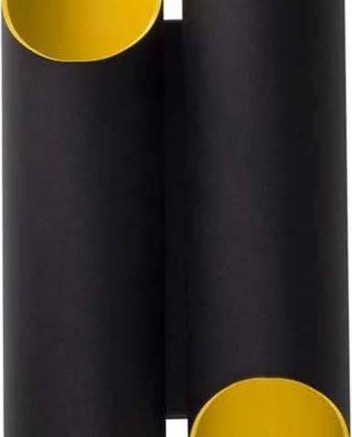Černé nástěnné svítidlo Opviq lights Efsun Double
