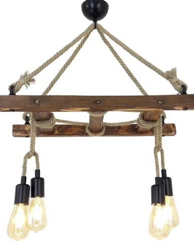 Dřevěné stropní závěsné svítidlo Halat