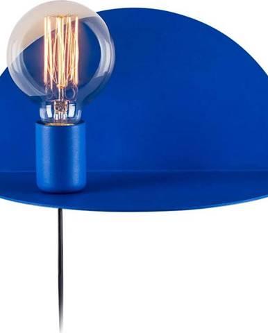 Modrá nástěnná lampa s poličkou Homemania Decor Shelfie Anna