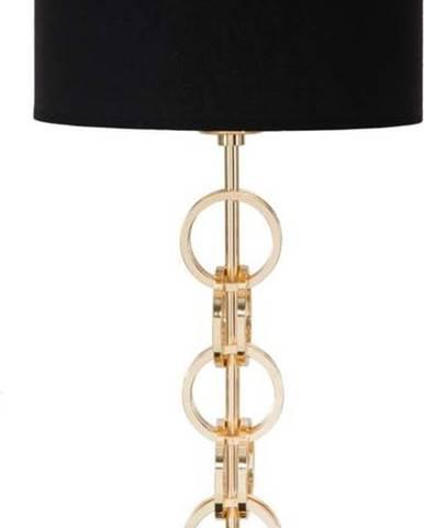 Stolní lampa v černo-zlaté barvě Mauro Ferretti Glam Rings, výška54,5cm
