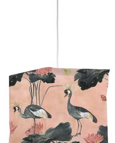 Textilní závěsné svítidlo Madre Selva Flores y Gruas