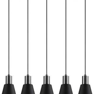 Černé závěsné svítidlo pro 5 žárovek Opviq lights Kem