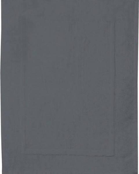 WENKO Antracitově šedá bavlněná koupelnová předložka Wenko, 50x70cm