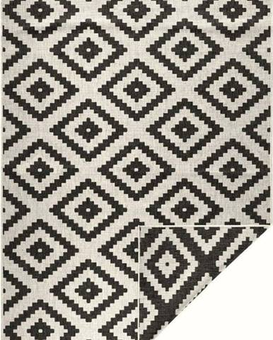 Černo-krémový venkovní koberec Bougari Malta, 120x170 cm