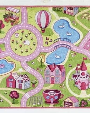 Dětský běhoun s růžovými detaily Hanse Home City, 90x200cm