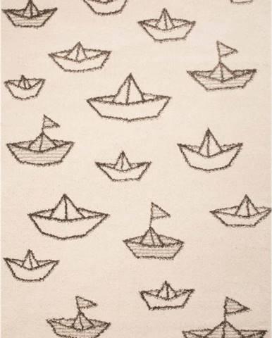 Dětský hnědý koberec Zala Living Boat, 120x170cm