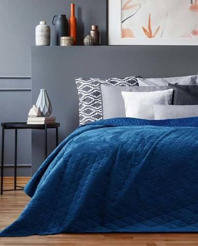 Modrý přehoz přes postel AmeliaHome Laila Royal, 220x240cm