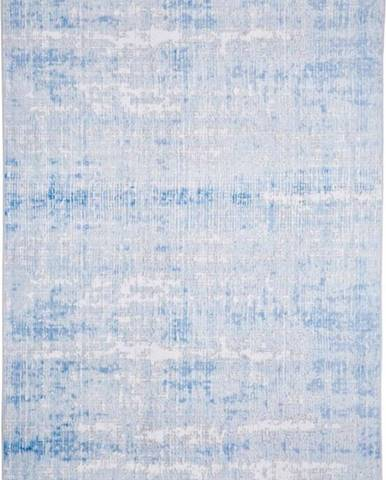 Šedo-modrý koberec Floorita Abstract, 120 x 180 cm