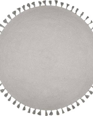 Šedý ručně tkaný koberec Nattiot Josephine,∅140cm