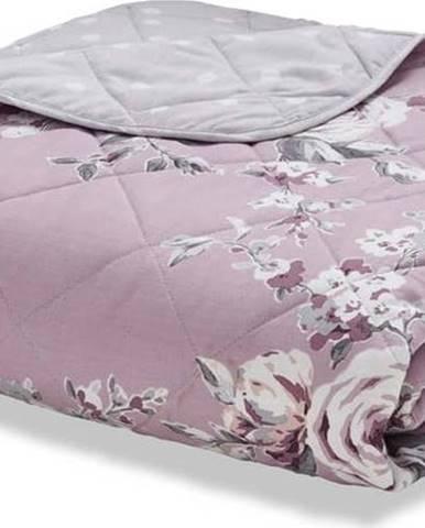 Světle fialový prošívaný přehoz přes postel Catherine Lansfield Canterbury Rose, 220x230cm
