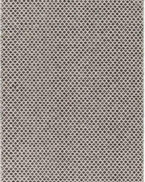 Narma Krémovo-černý běhoun vhodný do exteriéru Narma Diby, 70x150cm