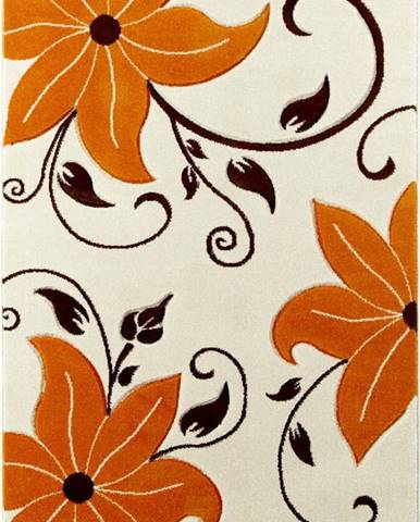 Béžovooranžový koberec Think Rugs Verona, 120x170cm