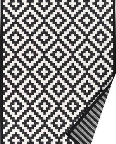 Černo-bílý oboustranný koberec Narma Viki Black, 80 x 250 cm