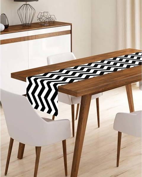 Minimalist Cushion Covers Běhoun na stůl z mikrovlákna Minimalist Cushion Covers Black Stripes, 45x145cm