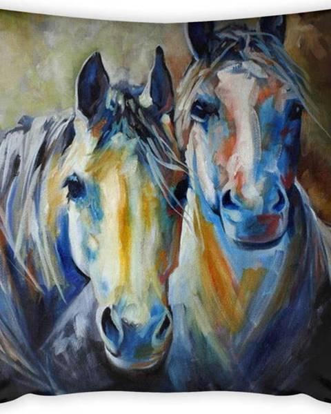 Vitaus Povlak na polštář Vitaus Horses Art, 43 x 43 cm