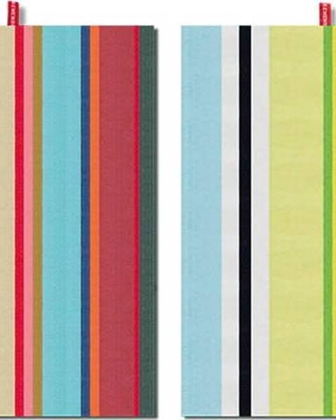 Remember Sada 2 bavlněných utěrek Remember Green Stripes, 70x50cm