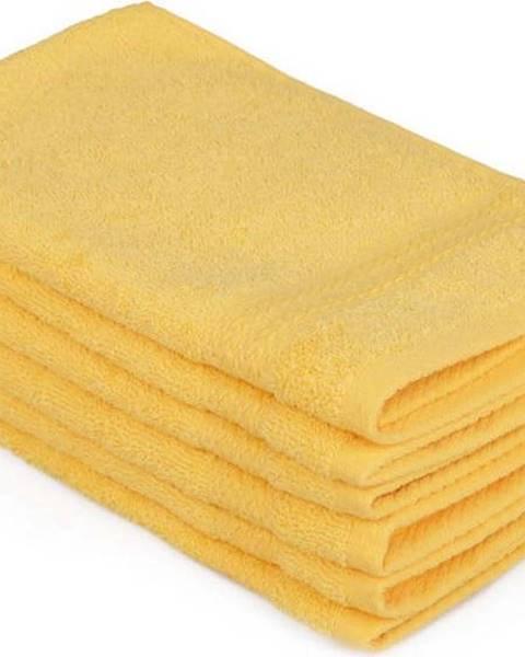Hobby Sada 6 žlutých bavlněných ručníků Madame Coco Lento Amarillo, 30 x 50 cm