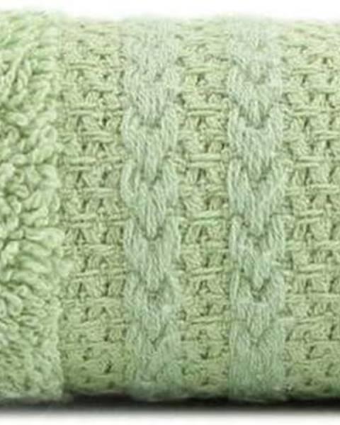 Hobby Zelený ručník z čisté bavlny Sunny, 30 x 50 cm