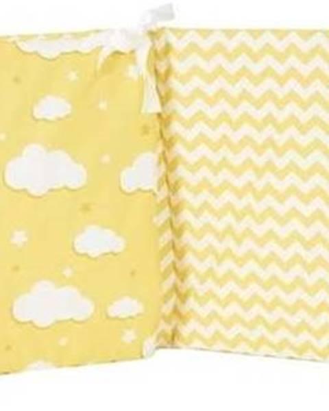Mike & Co. NEW YORK Žlutý ochranný bavlněný mantinel do dětské postýlky Mike&Co.NEWYORK Carino, 40 x 210 cm