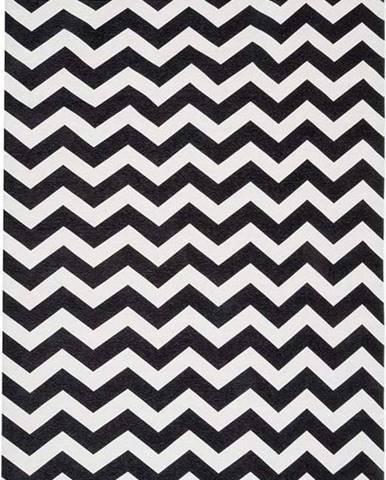 Černo-bílý běhoun Floorita Optical, 60 x 220 cm