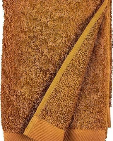 Oranžový ručník z froté bavlny Södahl Clay, 100 x 50 cm