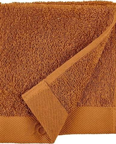 Oranžový ručník z froté bavlny Södahl Clay, 30 x 30 cm
