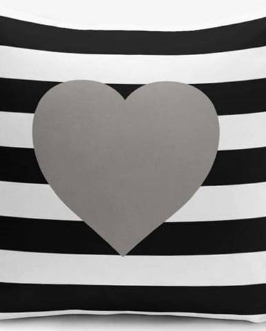 Povlak na polštář s příměsí bavlny Minimalist Cushion Covers Striped Grey,45x45cm