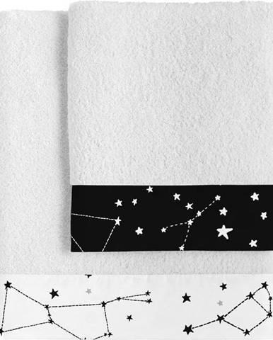 Sada 2 bavlněných ručníků Blanc Constellation