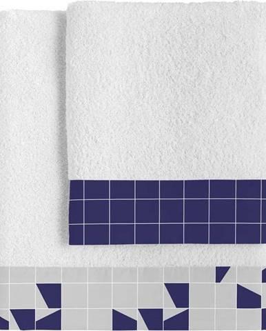 Sada 2bavlněných ručníků Blanc Structure