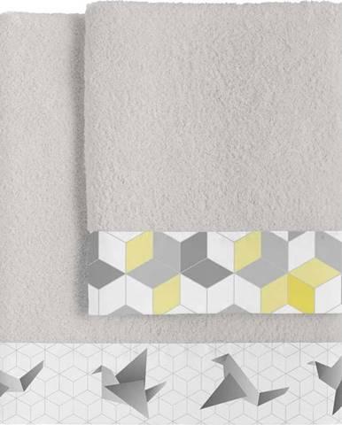 Sada 2bavlněných ručníků Blanc Symmetry