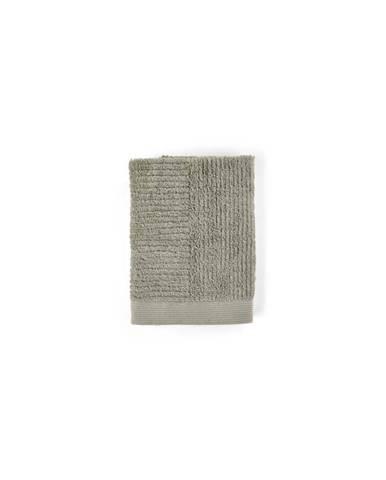 Šedozelený ručník ze 100% bavlny Zone Classic Eucalyptus, 50x70cm