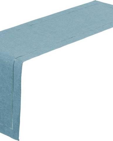 Světle modrý běhoun na stůl Unimasa, 150 x 41 cm
