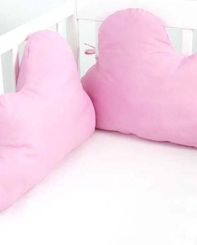 Světle růžová bavlněná výstelka do postýlky Happy Friday Basic, 60x40cm