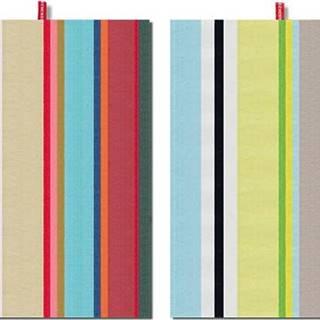 Sada 2 bavlněných utěrek Remember Green Stripes, 70x50cm