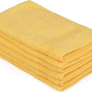 Sada 6 žlutých bavlněných ručníků Madame Coco Lento Amarillo, 30 x 50 cm