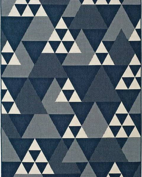Universal Modrý venkovní koberec Universal Clhoe Triangles, 160 x 230 cm