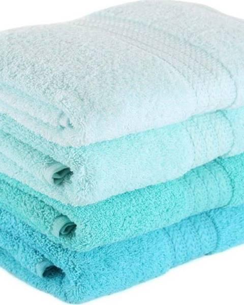Hobby Sada 4 ručníků z bavlny Rainbow Tropical, 50x90cm