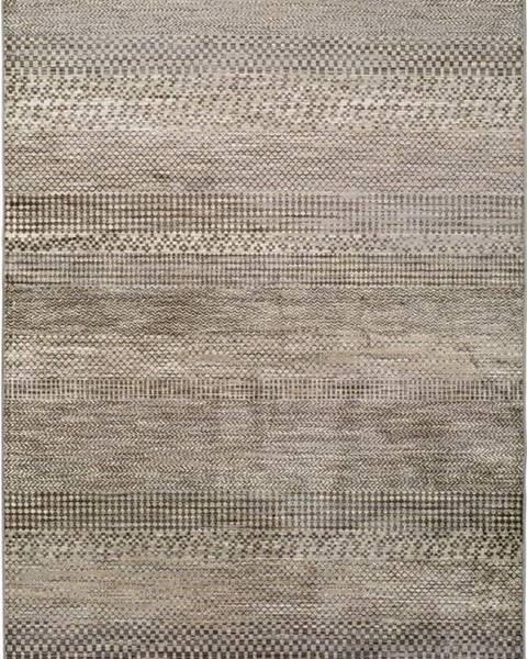 Universal Šedý koberec z viskózy Universal Belga Beigriss, 160 x 230 cm