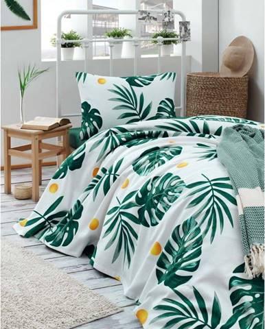 Bavlněný přehoz přes postel Muniro Jungle, 160 x 235 cm