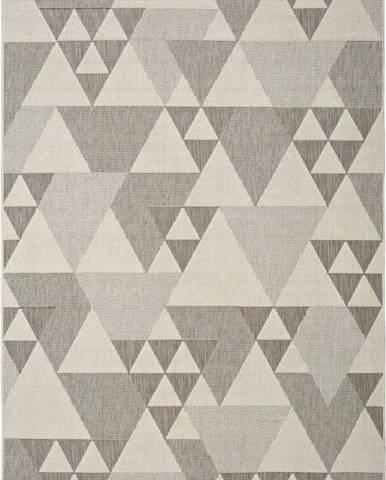 Béžový venkovní koberec Universal Clhoe Triangles, 120 x 170 cm