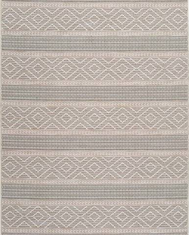 Béžový venkovní koberec Universal Cork Lines, 130 x 190 cm