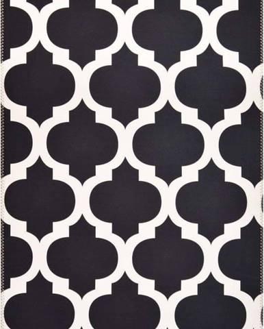 Černobílý koberec Vitaus Elisabeth,80x150cm