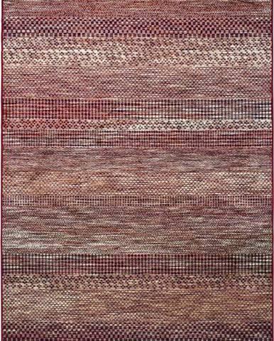 Červený koberec z viskózy Universal Belga Beigriss, 100x140cm