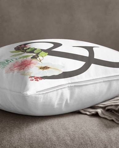 Povlak na polštář Minimalist Cushion Covers Floral Alphabet &, 45 x 45 cm