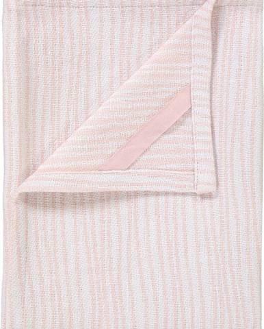 Sada 2 růžovo-bílých bavlněných utěrek na nádobí Blomus, 50x70cm