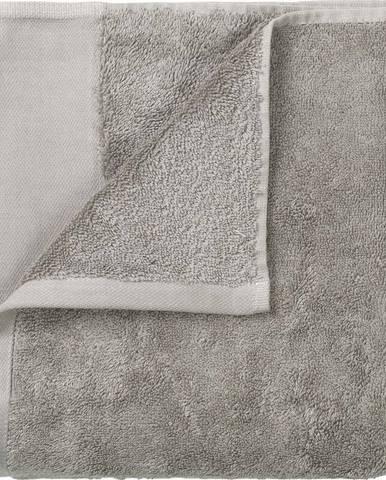Sada 4 šedých ručníků Blomus. 30x30cm