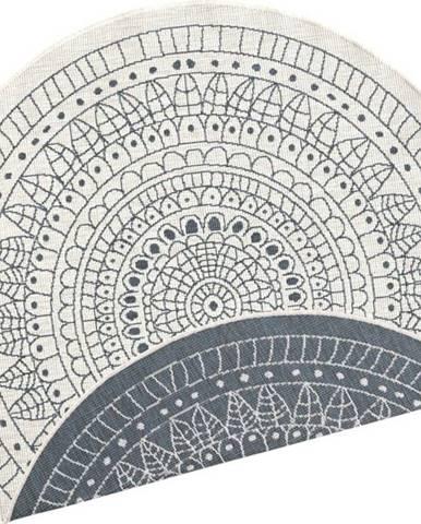 Šedo-krémový venkovní koberec Bougari Porto, ø 200 cm