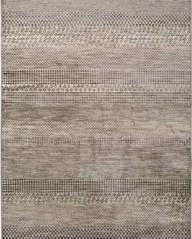 Šedý koberec z viskózy Universal Belga Beigriss, 160 x 230 cm