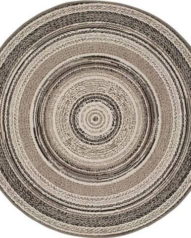 Šedý venkovní koberec Universal Verdi, ⌀ 120 cm