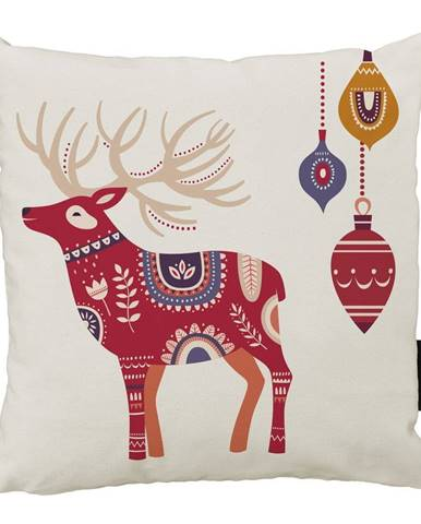 Vánoční polštář s bavlněným povlakem Butter Kings Folk,45x45cm
